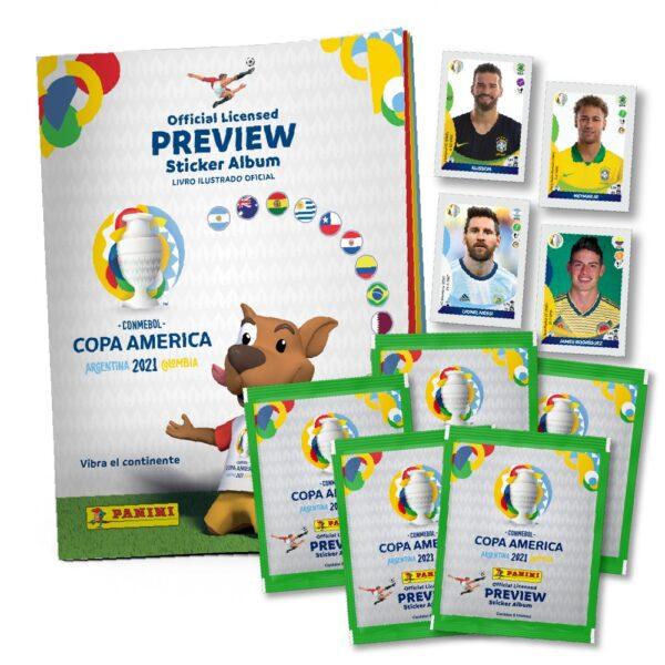 20 sobres de cromos + Álbum con descuento - Starter Pack Previa Copa América