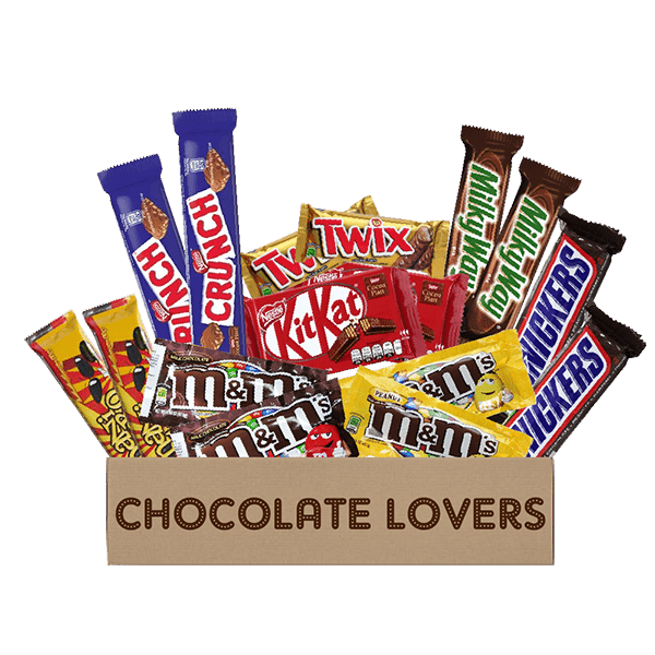 chocolate lovers snack box
